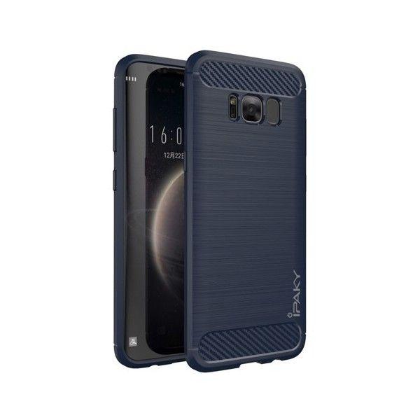 Husa Samsung Galaxy S8 Plus - iPaky Slim Carbon Blue