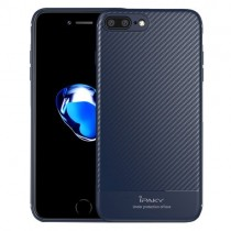 Husa iPhone 7 Plus / iPhone 8 Plus - iPaky Carbon Fiber Blue