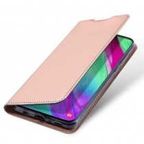 Husa Samsung Galaxy A40 Dux Ducis Flip Stand Book - Rose Gold