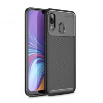 Husa Samsung Galaxy A40 Mobster Carbon Skin Negru