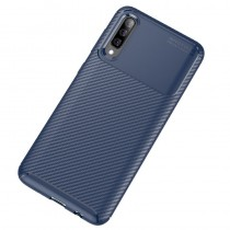 Husa Samsung Galaxy A70 Mobster Carbon Skin Albastru