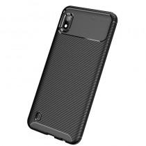 Husa Samsung Galaxy A10 Mobster Carbon Skin Negru