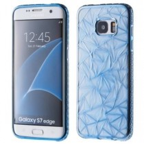 Husa Samsung Galaxy S7 Edge - Electroplating TPU Diamond Blue aspect metalic