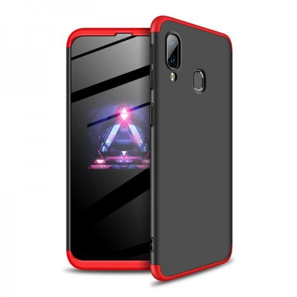 Husa Samsung Galaxy A40 GKK 360 Full Cover Negru-Rosu
