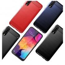 Husa Samsung Galaxy A30s / A50 / A50s - TPU Carbon - Albastru
